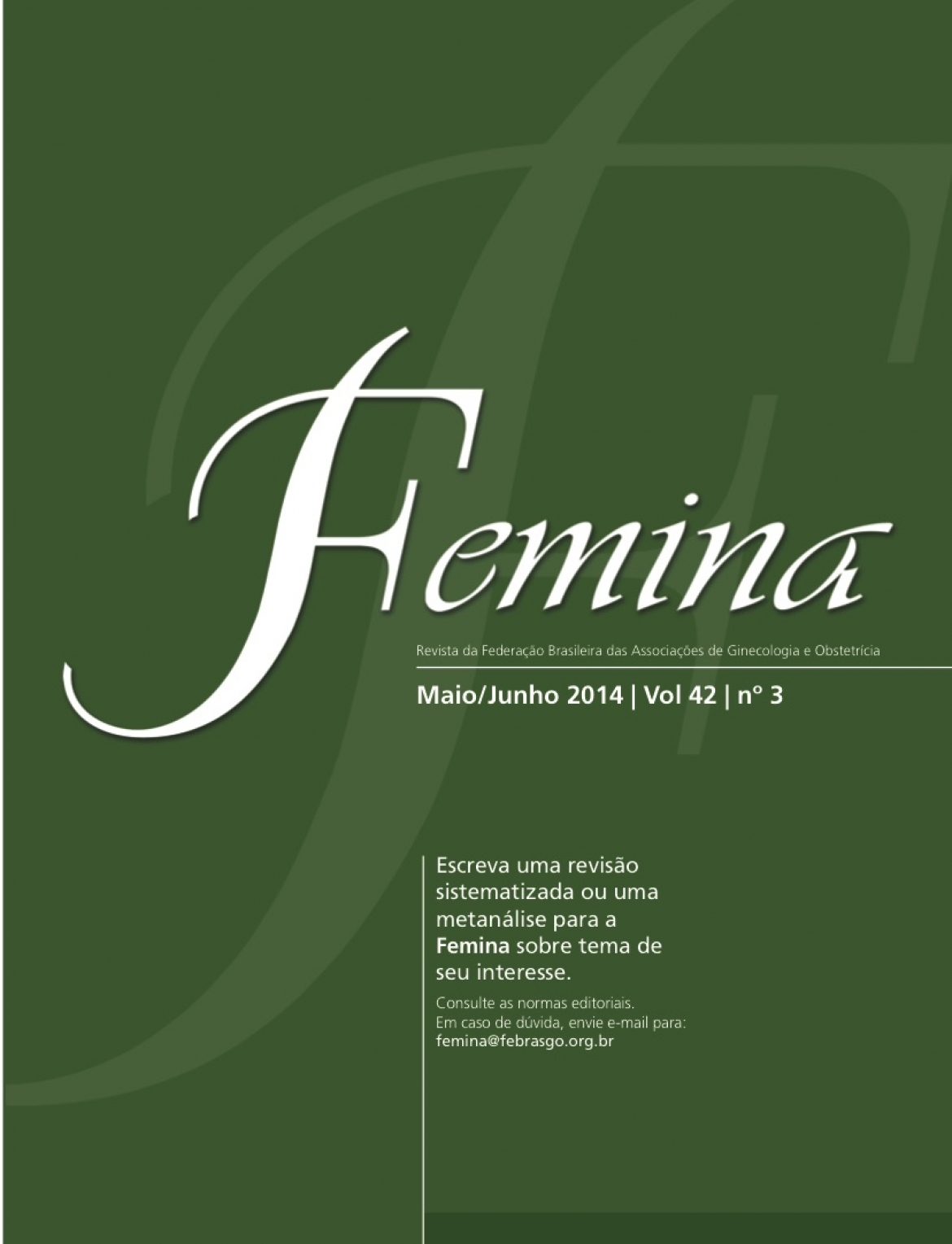 Revista Femina – 2014 | Vol 42 | nº 3
