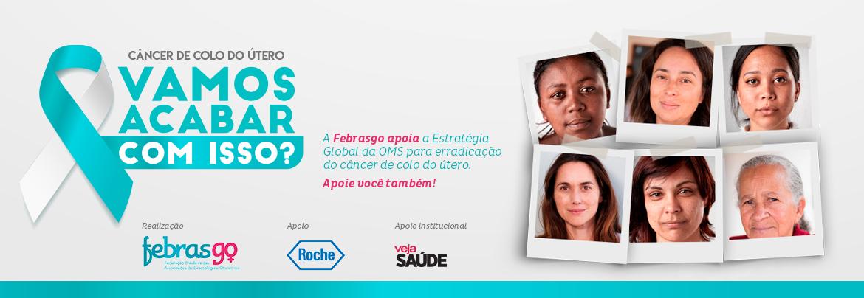 Febrasgo integra campanha da OMS para erradicação do Câncer de Colo de Útero