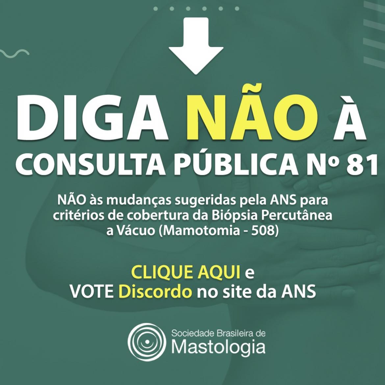 Consulta Pública Nº 81 da ANS – Atualização do Rol para Cobertura Obrigatória da Mamotomia.