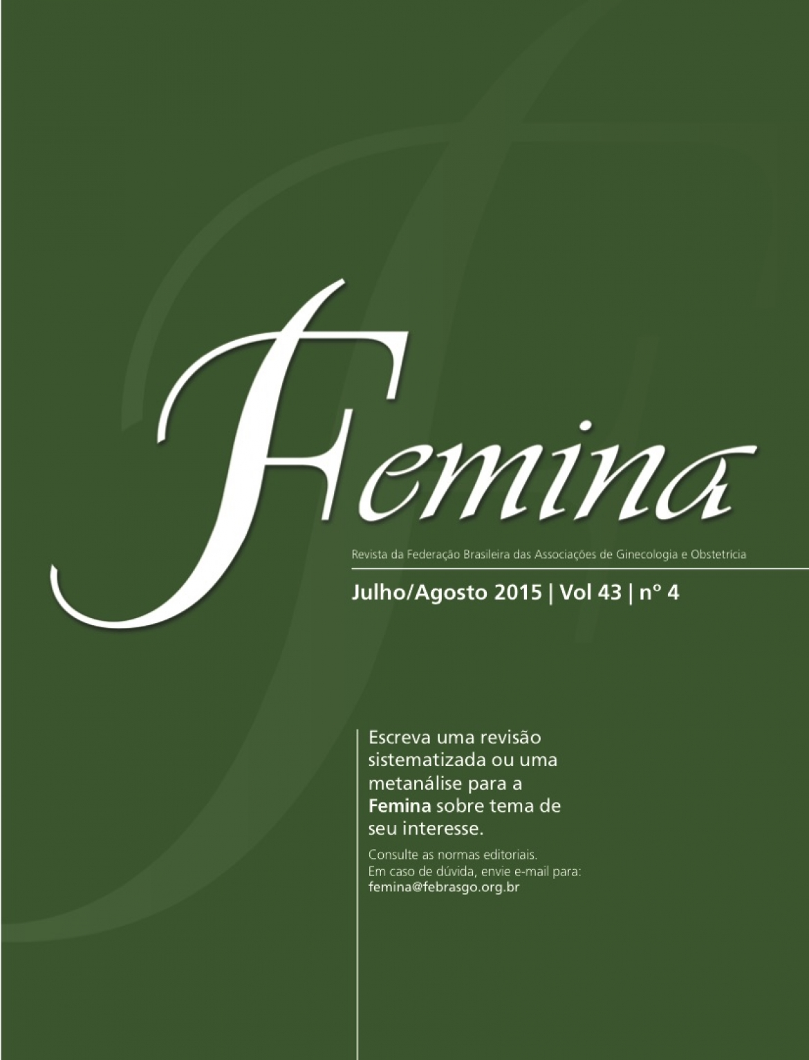 Revista Femina – 2015 | vol 43 | nº 4